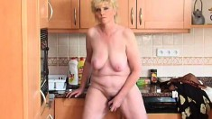 Lois gets rid of her clothes and fulfills her desires in the kitchen