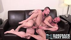 Hunky beef cake Rocco Steele seduces and fucks lusty Matt Stevens