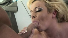 Sexy Emma Heart is in heaven when a hard pole deeply drills her snatch