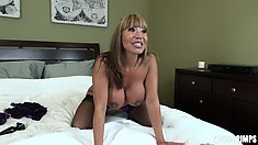 Ava Devine, a stunning milf with huge boobs and a big booty, is on the lookout for fun