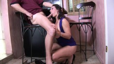 Sultry brunette milf with big hooters Persia Monir needs to get banged