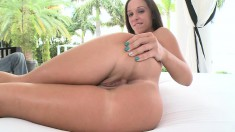 Jade Stevens has nice tits and ass who blows him before he nails her