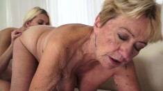 Big Tit Mature Lesbian Gets A Younger Pussy To Indulge In Cunt Licking