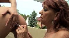 Sensual Brunette Teen Enjoys Hot Lesbian Love With A Sexy Redhead Mom