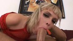 Kinky blonde Kissy takes great pleasure in engaging in rough anal sex