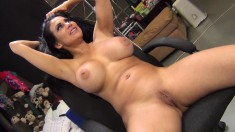 Stacked brunette milf Sheila Maire surrenders her cunt to a black bull