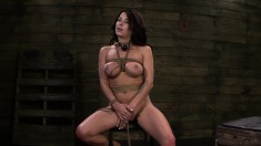 Kali Kavalli is face fucked, tied up and gets a stiffy up her ass