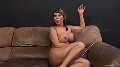 Ava Devine talks about her fucking and has a smoke with a buddy
