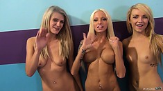 Fucking with Rikki Six, Carmen Callaway and Amanda Tate at once is an unforgettable experience