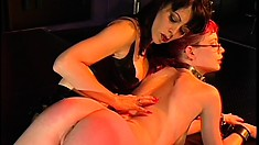 Geeky lesbian redhead gets tortured by her smoking hot mistress