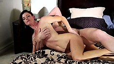 Evan is busting her chops hard as he keeps pounding her wet slit