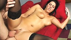 Well-endowed charmer enjoys exploring a hot chicks curvy butt