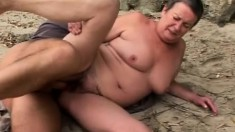 Lusty cocksucking grandma spreads her legs for a gigantic bone