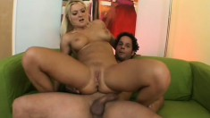 Buxom blonde Barbara Summer welcomes a long cock deep in her tight ass