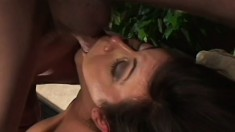 An angelic MILF shows off her naughty talents with a hung dude