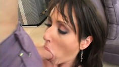 Horny Milf goes back to back with two dudes and gets both holes whacked