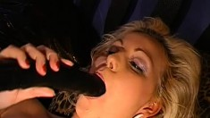 Exciting babes wildly fuck hard cocks and swallow heavy loads of semen