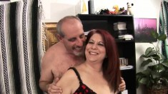 First-class redhead lady Nina gets her hungry peach licked and fucked