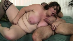 Hefty Joslyn Underwood trades head and gets banged by an older guy