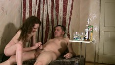 Mauricio and Osya enjoy a few drinks and then exchange oral pleasures