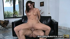 Sexy brunette Gracie Glam gives up her tight twat for a hot fuck