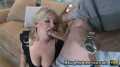 Busty blonde cougar Rachel Love is a big fan of young studs with big cocks