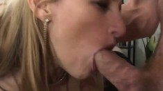 Naughty milf seduces the repairman and has him banging her fiery peach