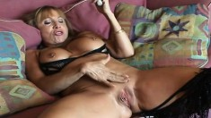 Big breasted mom has a hard dick working its magic in her fiery pussy
