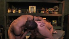 After Getting His Ass Fisted And Toyed, He Jerks Off While Getting Drilled