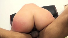 Dazzling brunette with a magnificent ass Kate loves it black and huge