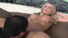 Mckenzee Miles and Kodi James share a long stick and squirt together