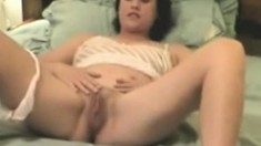 Close up of Sophie Parker fingering herself