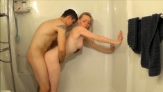 Amateur teen in shower