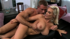 BIG BOOBS BLONDE MOM LIKES HARDCORE