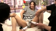 Japanese toying and threesome