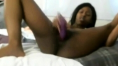 ebony toying with pink toy
