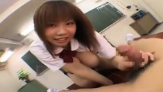Horny Japanese Teen With Big Boobs Fucked Hard