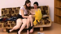 Amateur European Teen Cumswaps After 3way Senior Fuck