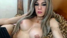 Jerk Off And Sucks With Her Big Tits