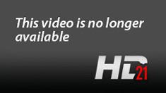 Sexy brunette in black stockings sucks 2 cocks