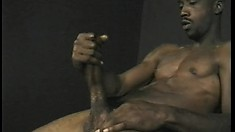 Tight bodied black stud knows exactly how to work his meat into a stiff pole