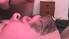 Two chubby gays exchange hot blowjobs and enjoy rough anal sex on the bed