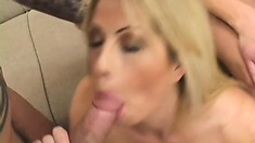 Brooke gets her ass fucked and likes the taste of her ass juice