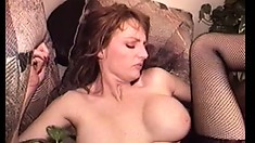 Big-breasted hooker Mary Jane is facialized and creamed at the end