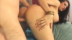 Horny raven-head feels her cunt becoming loose after thick dick fucking