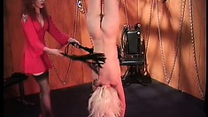 Petite blonde broad gets her nipples teased by her sexy mistress