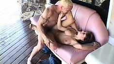 Tyla Wynn quivers with pleasure as a long shaft invades her tight ass