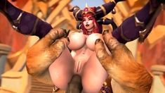 World of Warcraft 3D Nude Heroes Gets a Huge Massive Cock